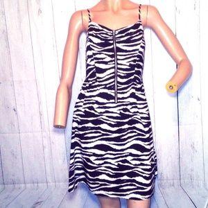 H&M Zebra Print Sundress Sz 4